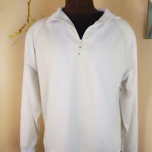 White Footjoy long sleeve pullover quarter zip up